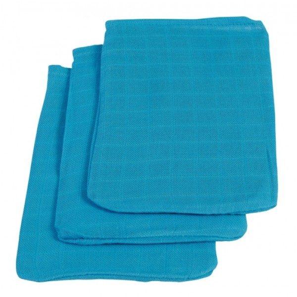 Jollein Hydrofiel washandjes turquoise (3 stuks)