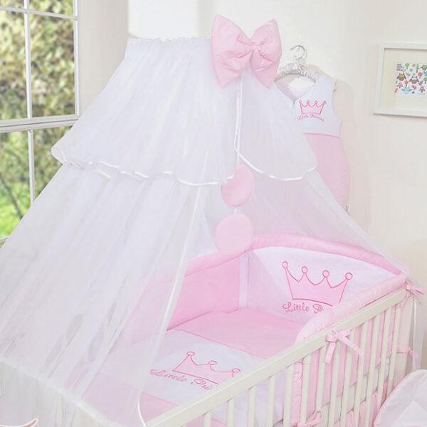 3-Delig Bedset Little Princess Voile Roze