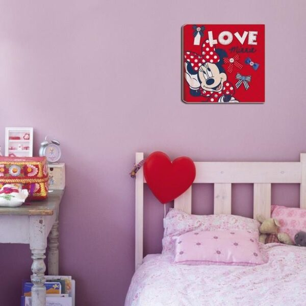 Disney Minnie Mouse Canvas Rood 30x30 cm