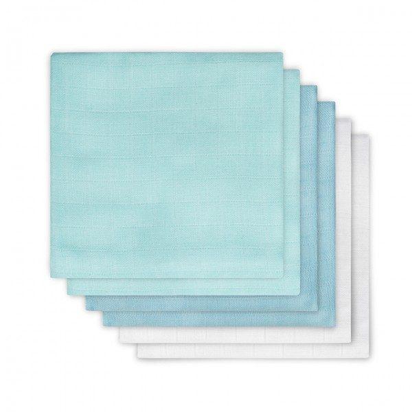 Jollein Hydrofiel luier mint/lagoon/wit (6pack)