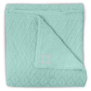 Jollein Deken 4-seizoenen 100x150cm Diamond knit vintage green