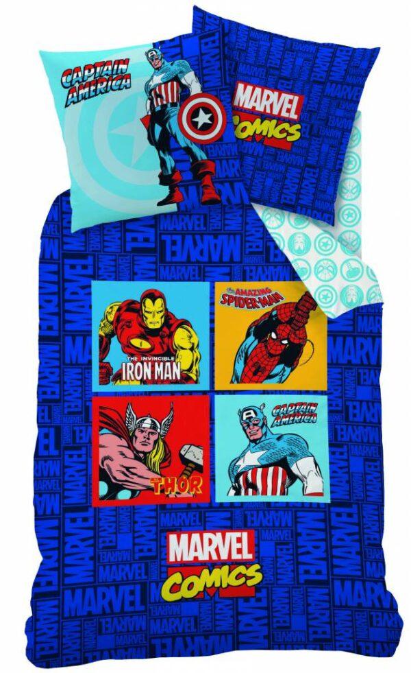 Dekbedovertrek Avengers Comics Blue