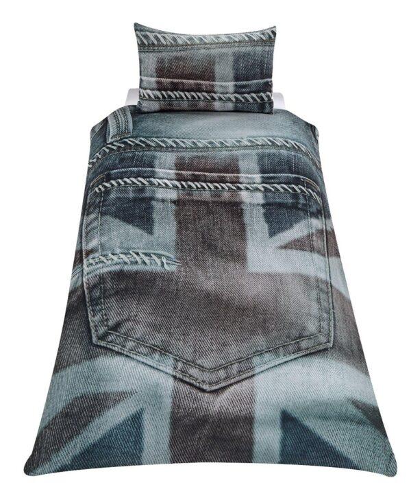 Union Jack Grey Dekbedovertrek
