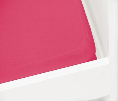 Briljant Hoeslaken Jersey 60x120cm Fuchsia
