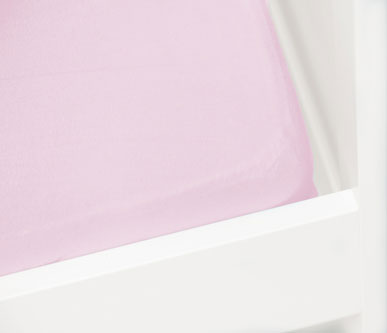 Briljant Hoeslaken Jersey 60x120cm Roze