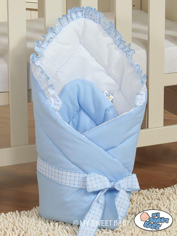My Sweet Baby Wikkeldeken Ruitje Blauw (Uni)