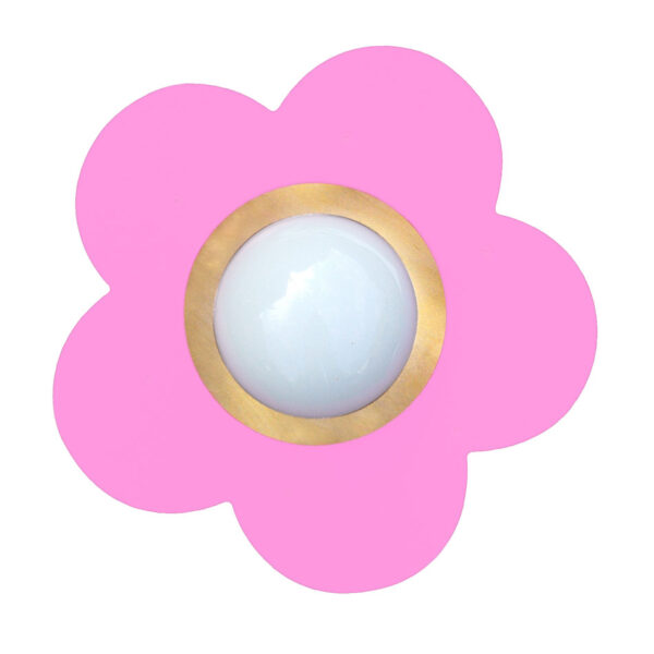 Plafondlamp Fleurige Bloem Roze
