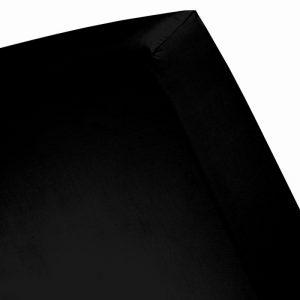 Damai Hoeslaken Double Jersey - 70 x 150 cm - Zwart