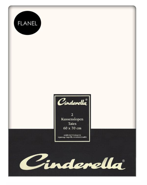 Flanellen Cinderella Kussenslopen Ecru (2 stuks)