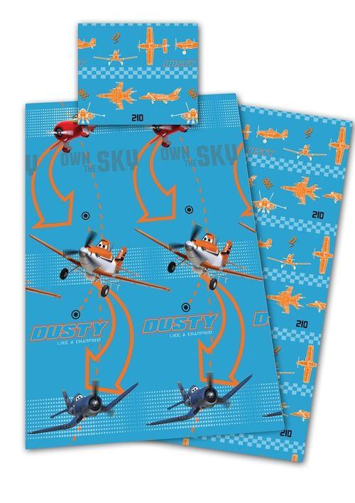 Kinderdekbedovertrek Planes Blauw Micro