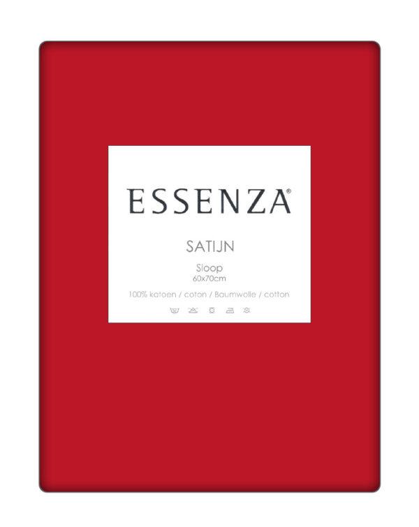 Essenza Kussensloop Satin Rood (1 stuk)