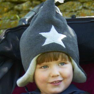 Buggy Snuggle Kindermuts Charcoal - Silver Star S
