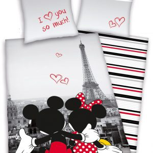 Mickey & Minnie Mouse in Paris Dekbed