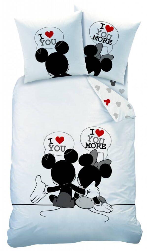 Dekbedovertrek Mickey & Minnie Mouse I Love You-140 x 200 cm