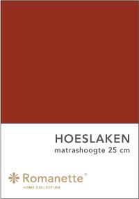 Romanette Hoeslaken Katoen Terra-90 x 200 cm