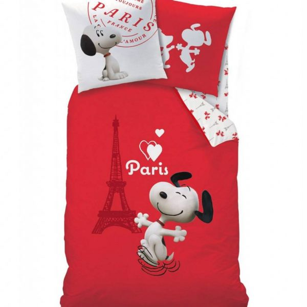 Snoopy the Dog Dekbedovertrek Paris