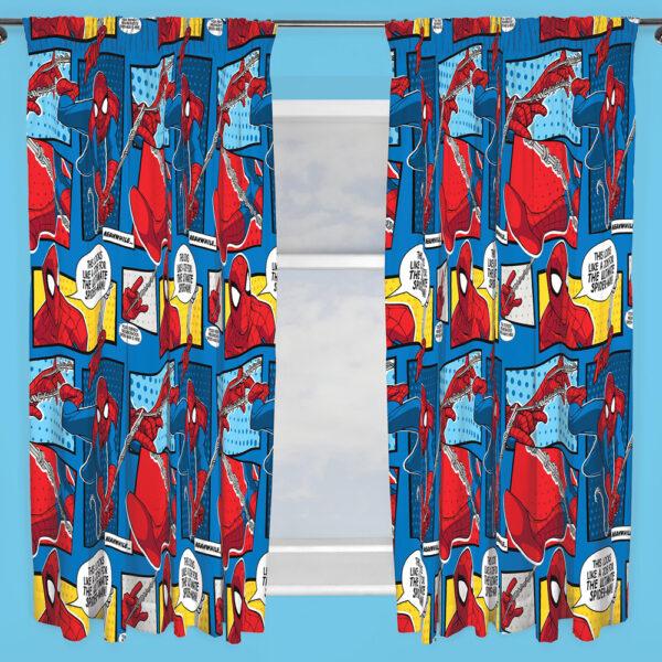 Spiderman Gordijnen Set 168x183cm (2 stuks)