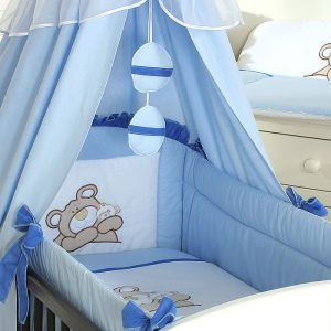 My Sweet Baby 3-delig Set Teddybeer Katoen Blauw