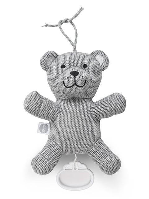 Jollein Knuffel Met Muziek Natural knit Bear Grey