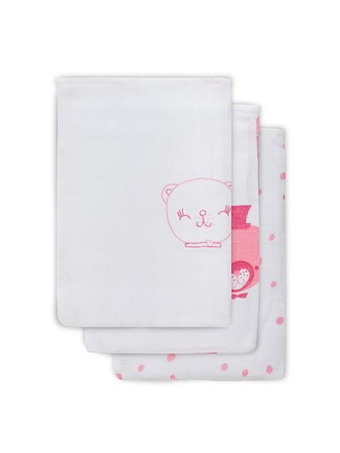 Hydrofiel washandje FUNNY BEAR pink (3 stuks)