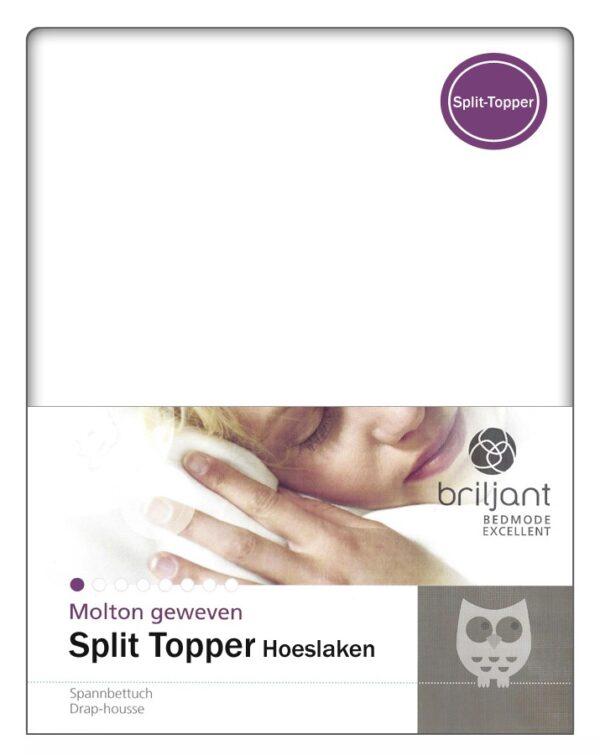 A-Keuze - Molton Split-Topper Hoeslaken Briljant-180 x 200 cm
