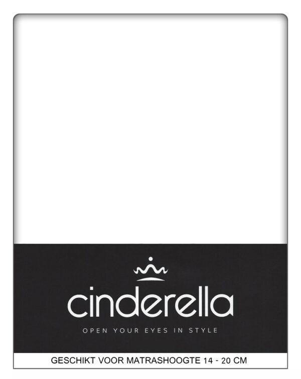 A-Keuze - Cinderella Basic Hoeslaken Wit-140 x 200 cm