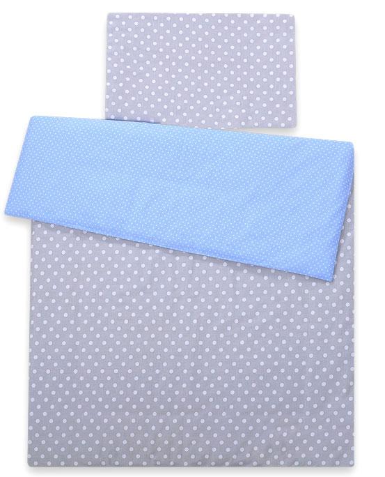 Dekbedovertrek Dots Grijs/Blauw Colormix MSB