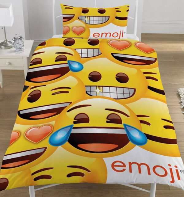 Emoji Smiley Faces Dekbedovertrek