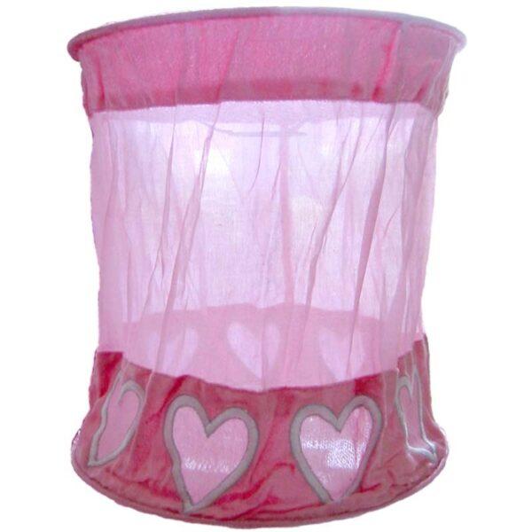 Taftan Hanglamp Hartjes Roze