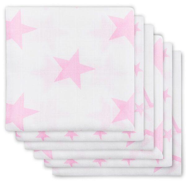 Jollein Hydrofiel Luier Little Star Pink (6 stuks)