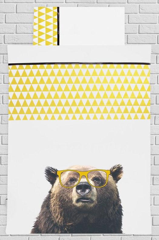 Dekbedovertrek Funny Grizzly Beer