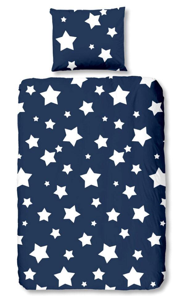 Kinderdekbedovertrek Stars Blue