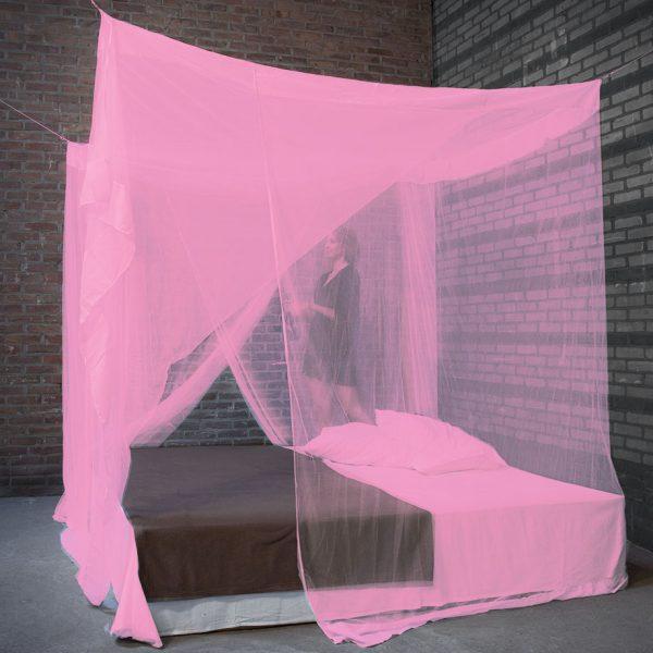 Klamboe Rechthoek Roze Solo