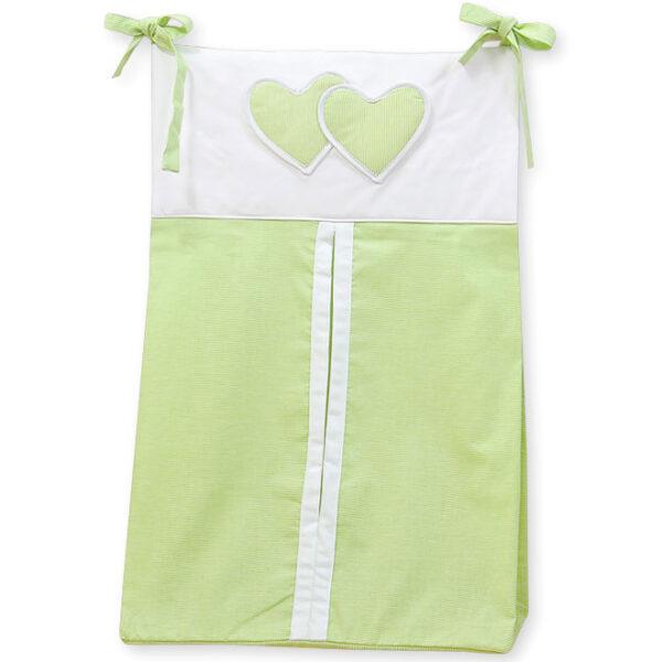 My Sweet Baby Luierzak Two Hearts Stripes Groen
