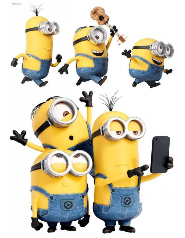 Minions Muursticker Selfie & Run 50 x 25 cm