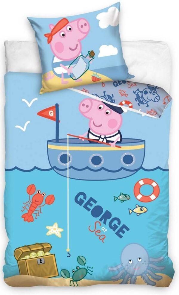 Dekbed Peppa Pig ledikant George: 100x135/40x60 cm