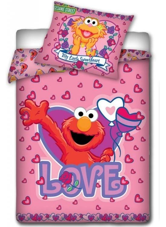 Dekbedovertrek Sesamstraat Love 100x135m