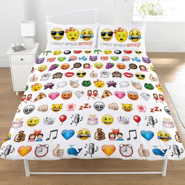 Smiley Dekbedovertrek Emoji 200x200cm