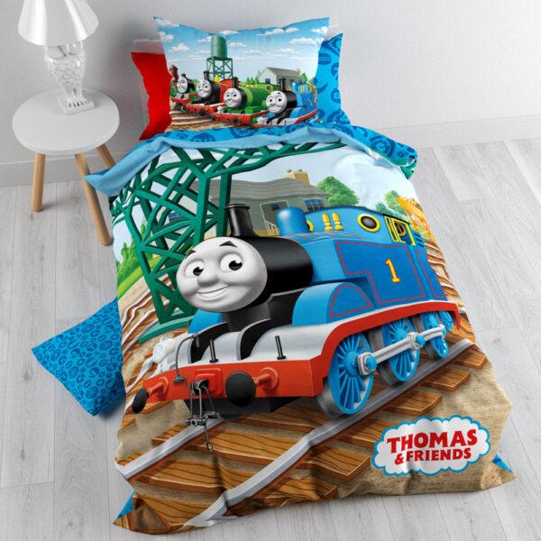 Thomas de Trein Dekbedovertrek Rails