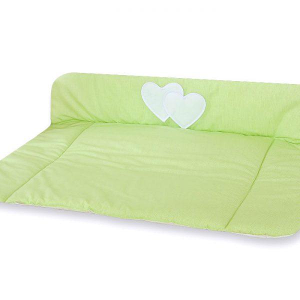 My Sweet Baby Aankleedkussen Two Hearts Stripes Groen
