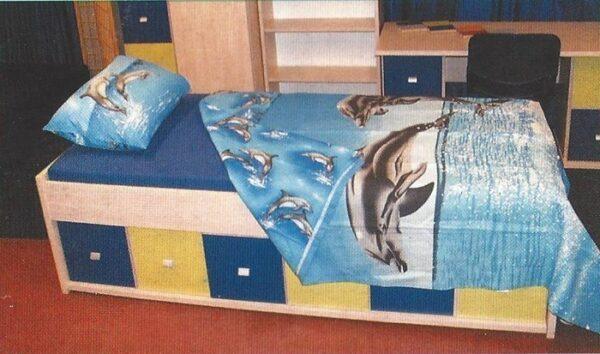 Bedset 3 Delig Dolfijn