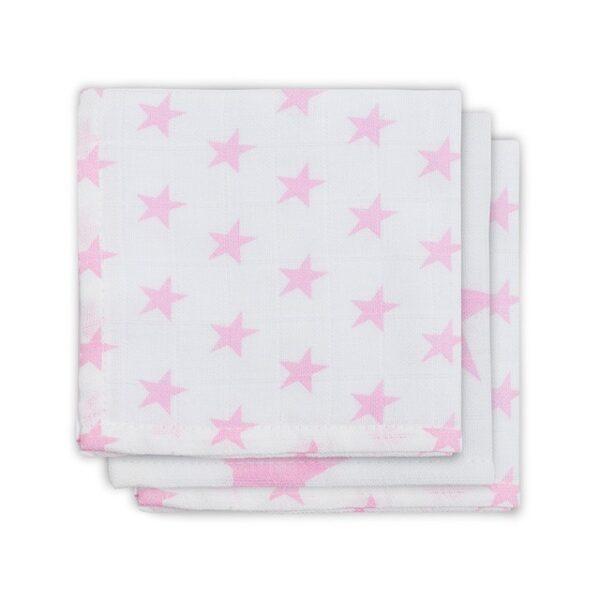 Jollein Monddoekje Hydrofiel Little Star Pink (3pack)