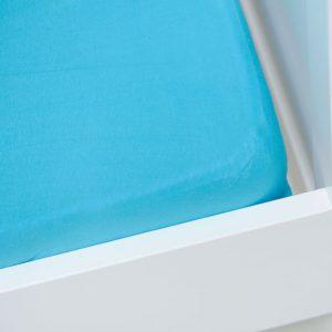 Briljant Hoeslaken Jersey 60x120cm Aqua