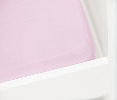 Briljant Hoeslaken Jersey 70x140/150cm Roze
