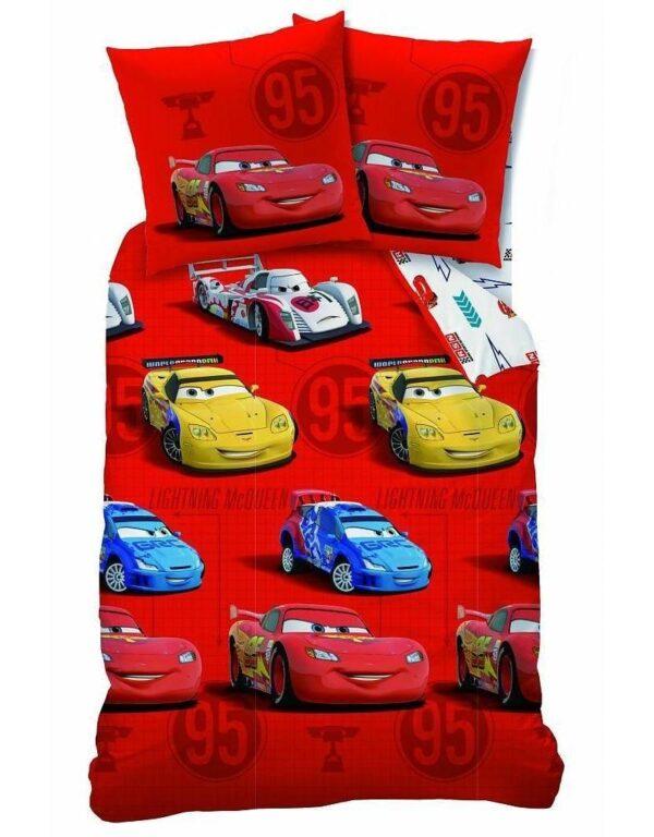 Disney Cars dekbedovertrek Flanel Sponsor Rouge