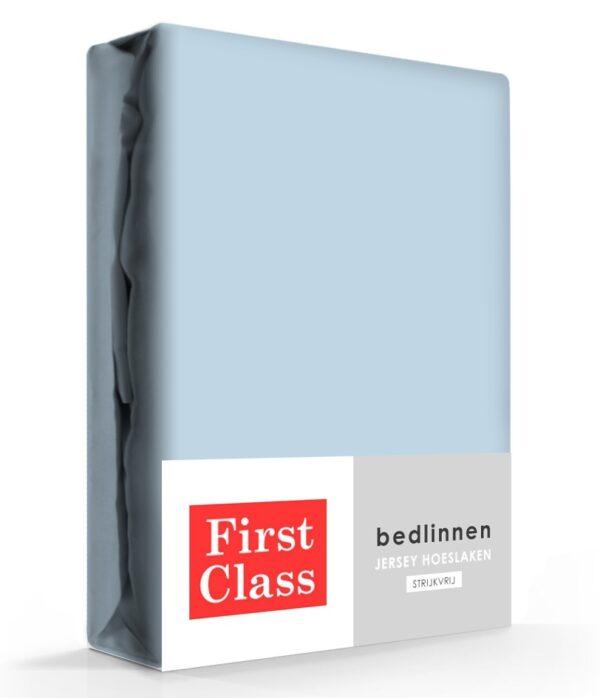 First Class Hoeslaken Jersey Blauw 160/180 x 200 cm