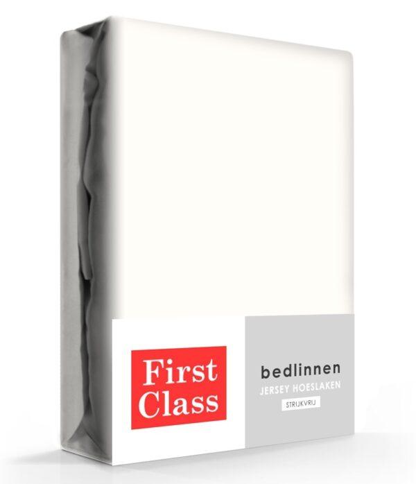 First Class Hoeslaken Jersey Ecru 90 x 200 cm