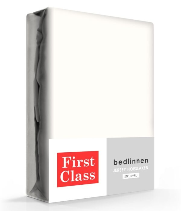 First Class Hoeslaken Jersey Ecru 90 x 220 cm