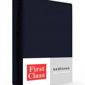 First Class Hoeslaken Katoen Blauw 90 x 200 cm