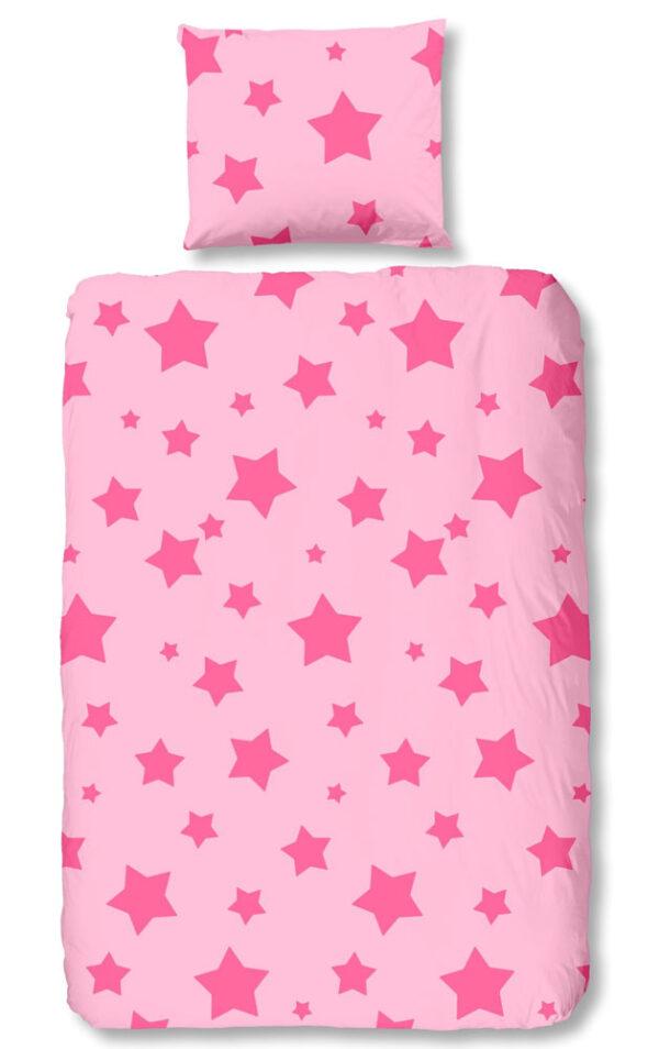 Kinderdekbedovertrek Stars Pink